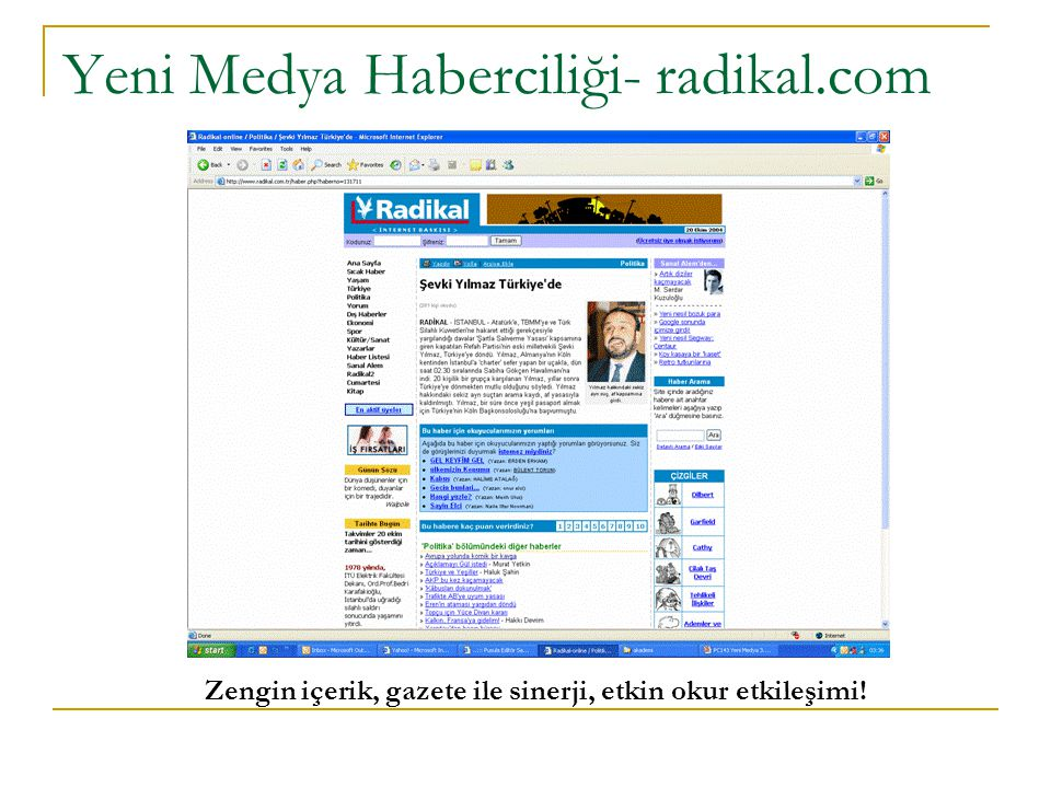 Yeni Medya Haberciliği- radikal.com