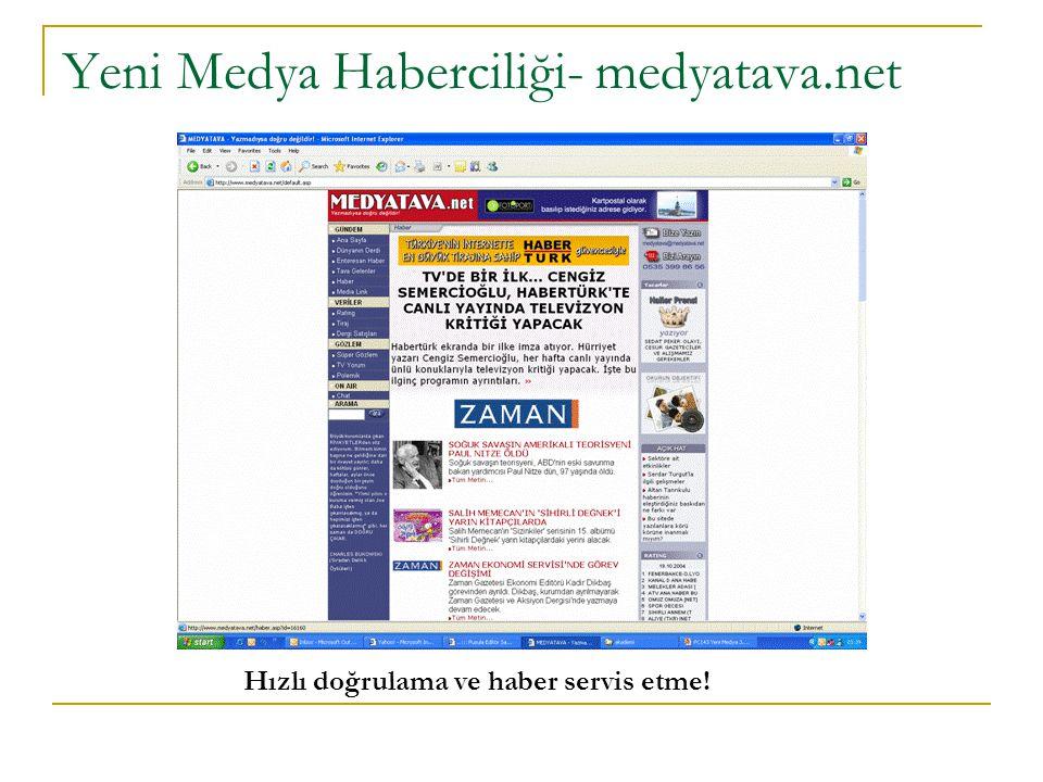 Yeni Medya Haberciliği- medyatava.net