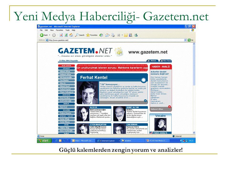 Yeni Medya Haberciliği- Gazetem.net