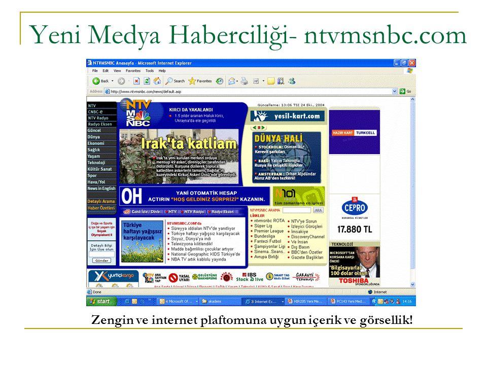 Yeni Medya Haberciliği- ntvmsnbc.com