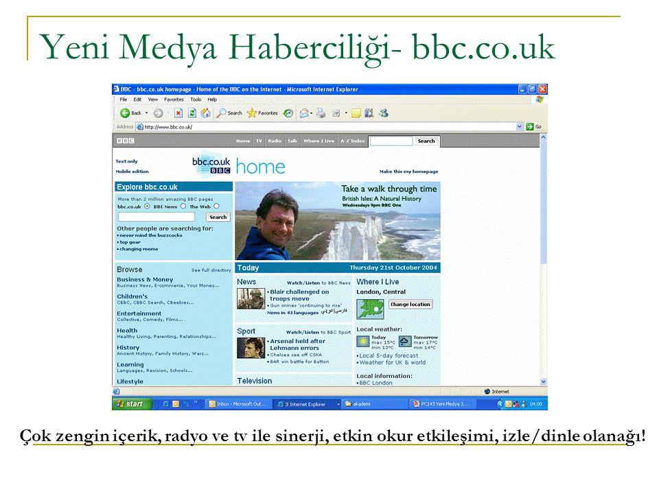 Yeni Medya Haberciliği- bbc.co.uk