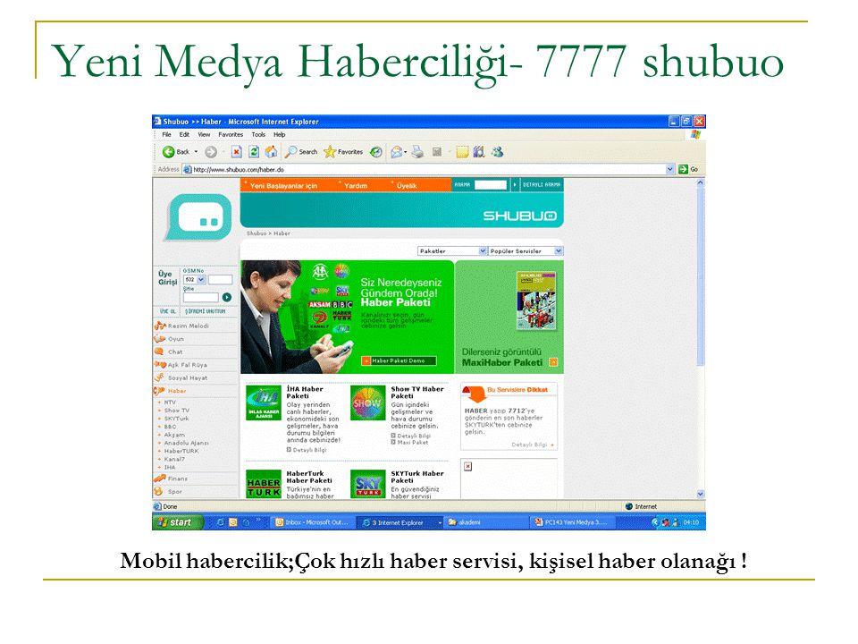 Yeni Medya Haberciliği- 7777 shubuo