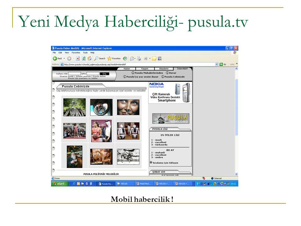 Yeni Medya Haberciliği- pusula.tv