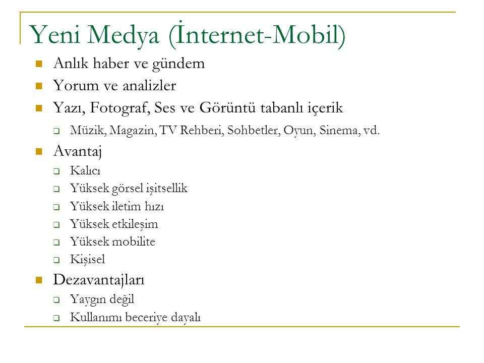 Yeni Medya (İnternet-Mobil)