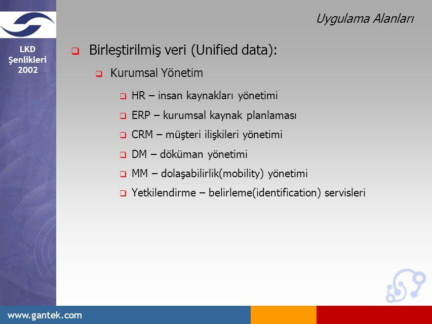 Birleştirilmiş veri (Unified data):