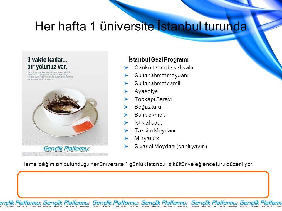 Her hafta 1 üniversite İstanbul turunda