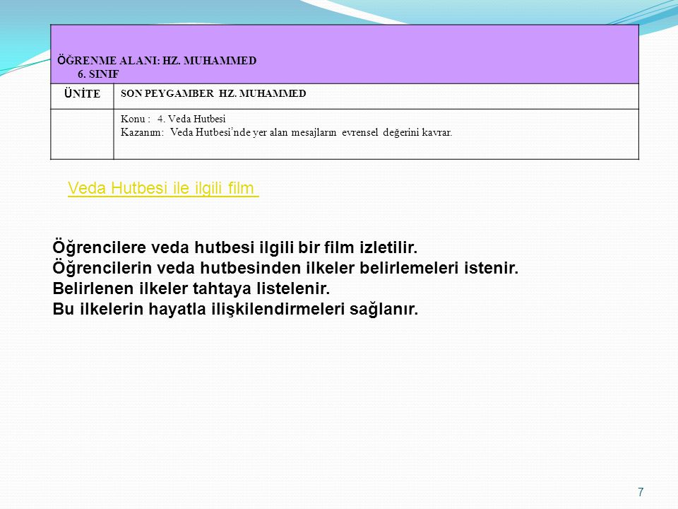 Veda Hutbesi ile ilgili film