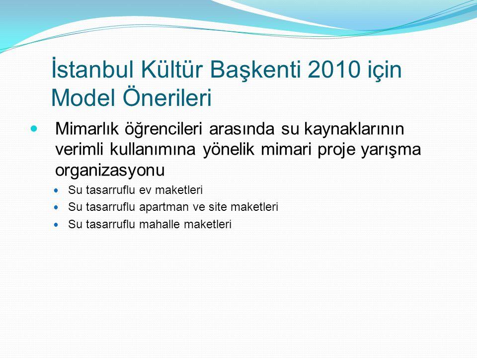 İstanbul Kültür Başkenti 2010 için Model Önerileri