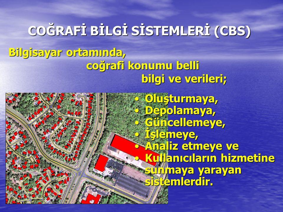 COĞRAFİ BİLGİ SİSTEMLERİ (CBS)