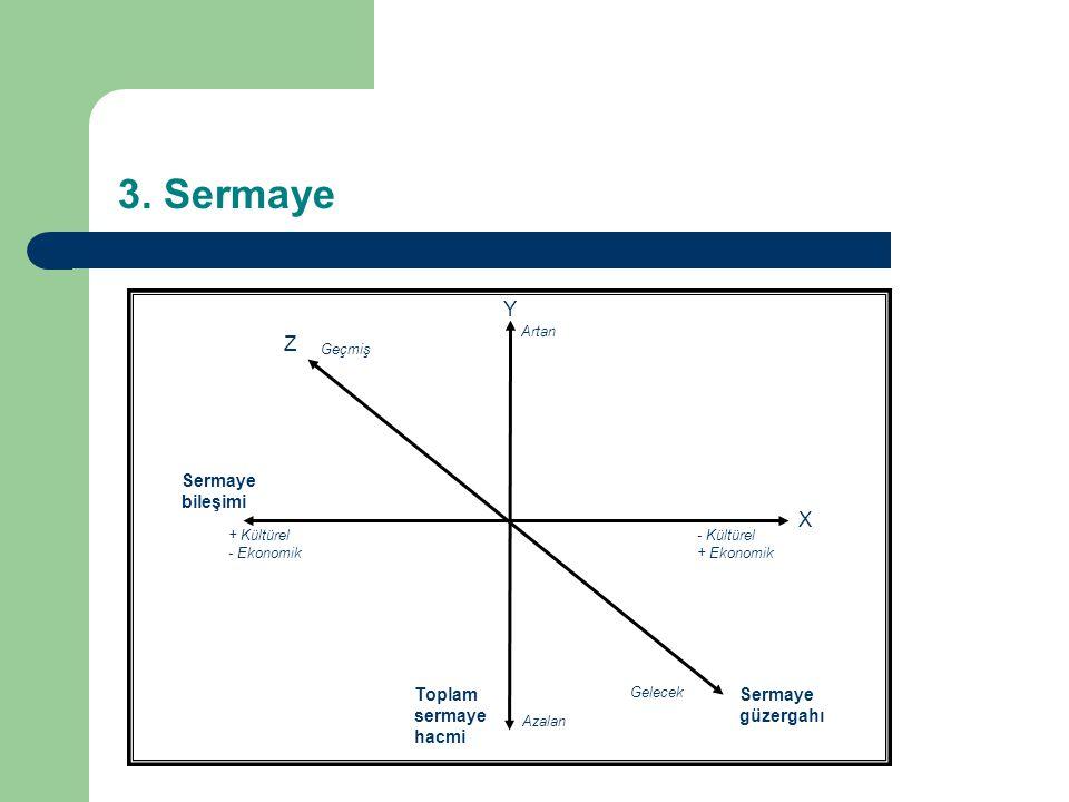 3. Sermaye Y Z X Sermaye bileşimi Toplam sermaye hacmi