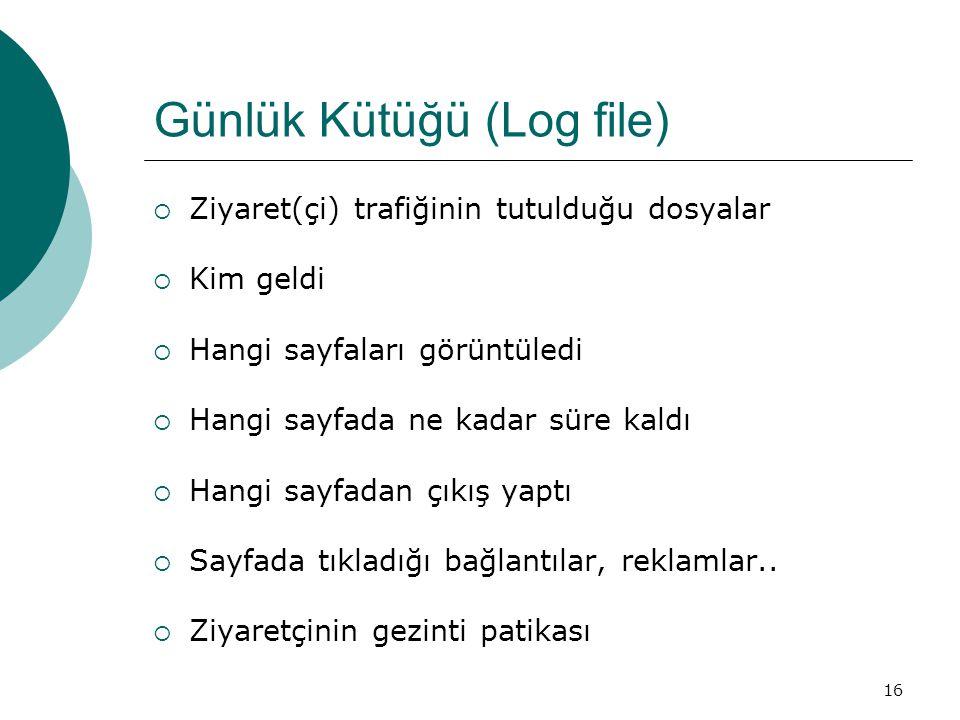 Günlük Kütüğü (Log file)