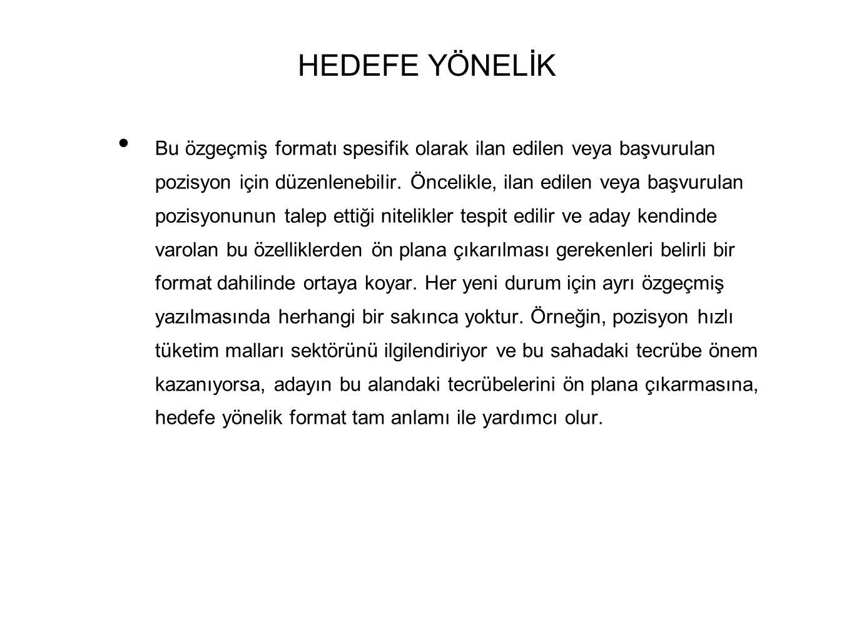 HEDEFE YÖNELİK