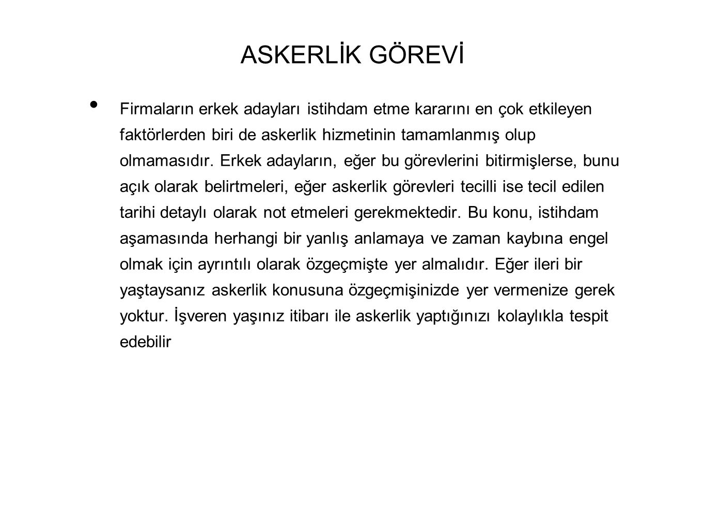ASKERLİK GÖREVİ