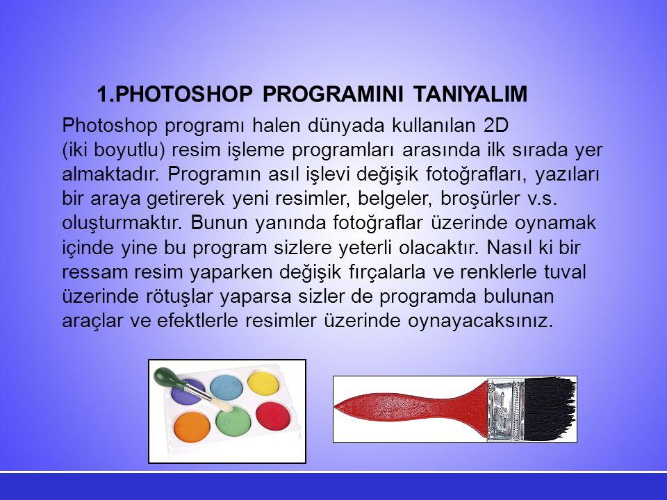 PHOTOSHOP PROGRAMINI TANIYALIM