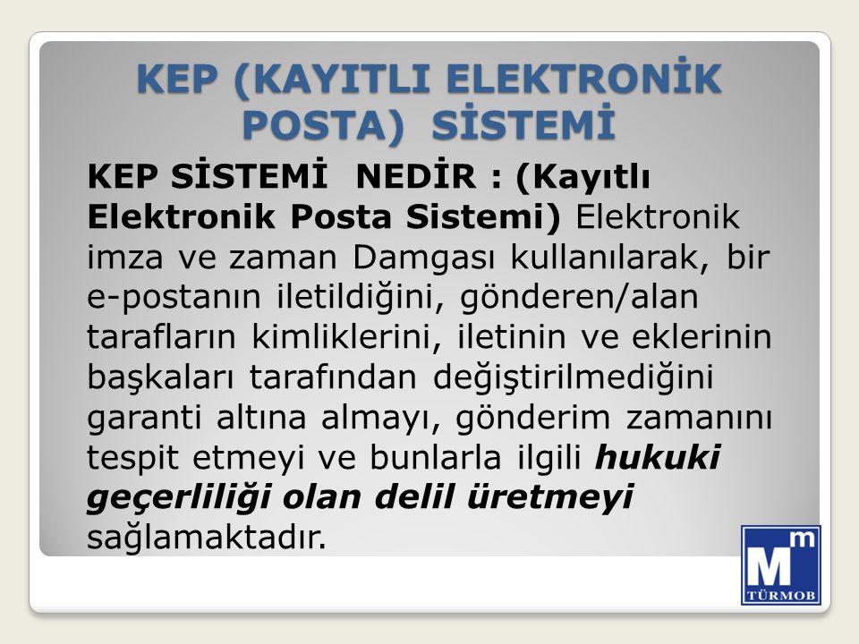 KEP (KAYITLI ELEKTRONİK POSTA) SİSTEMİ