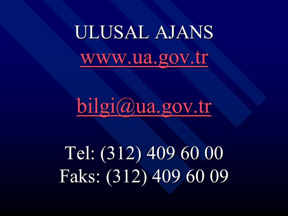 ULUSAL AJANS www. ua. gov. tr bilgi@ua. gov