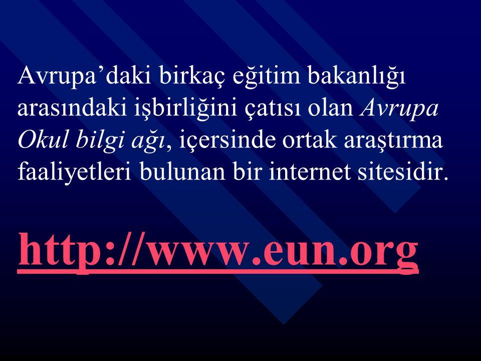 Avrupa'daki birkaç eğitim bakanlığı arasındaki işbirliğini çatısı olan Avrupa Okul bilgi ağı, içersinde ortak araştırma faaliyetleri bulunan bir internet sitesidir.