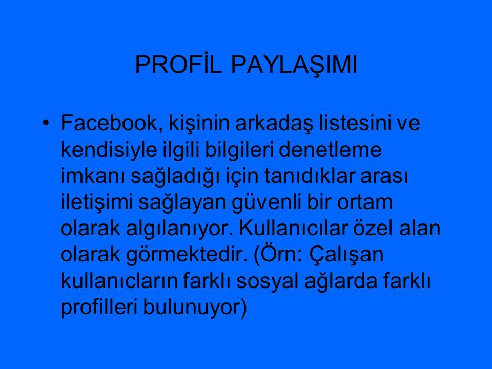 PROFİL PAYLAŞIMI