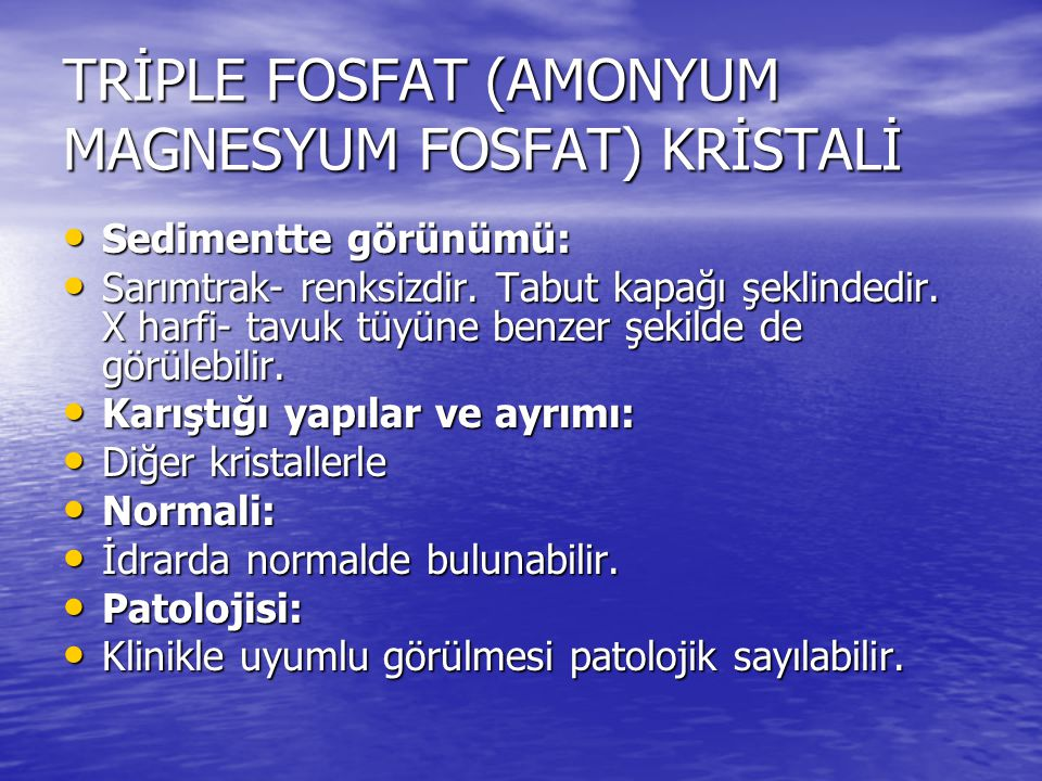 TRİPLE FOSFAT (AMONYUM MAGNESYUM FOSFAT) KRİSTALİ