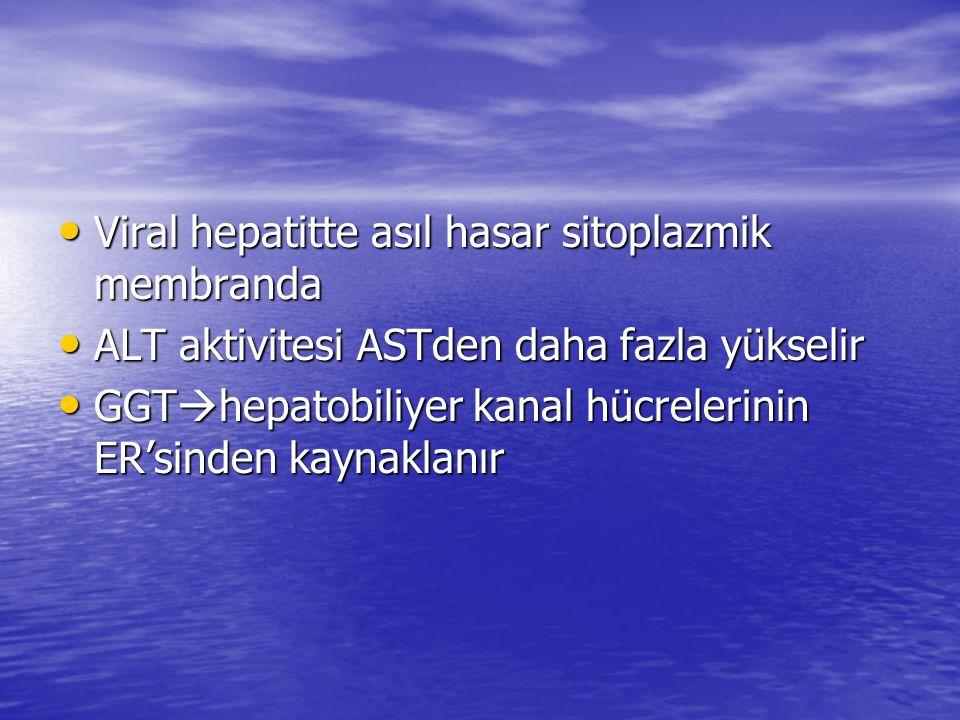 Viral hepatitte asıl hasar sitoplazmik membranda