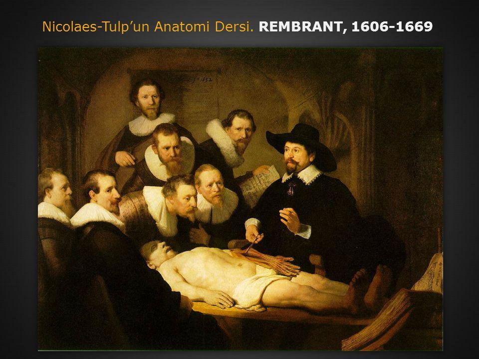 Nicolaes-Tulp'un Anatomi Dersi. REMBRANT, 1606-1669