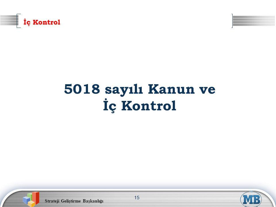 İç Kontrol 5018 sayılı Kanun ve İç Kontrol 15