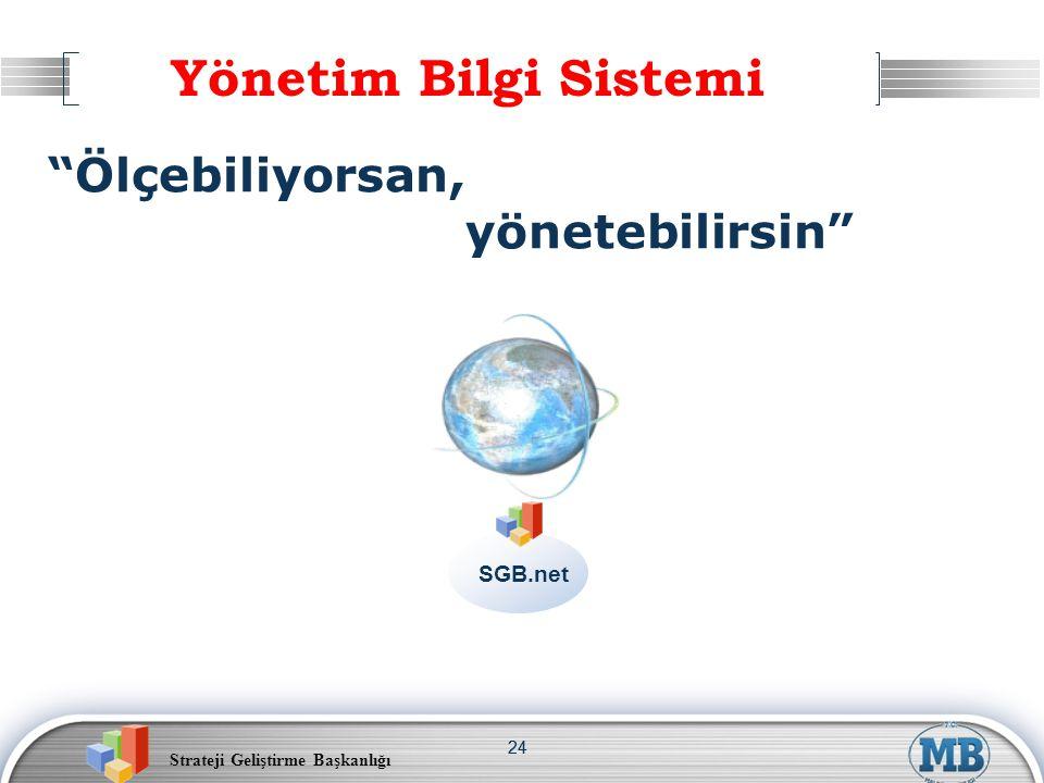 Yönetim Bilgi Sistemi Ölçebiliyorsan, yönetebilirsin SGB.net 24