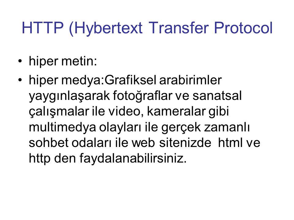 HTTP (Hybertext Transfer Protocol