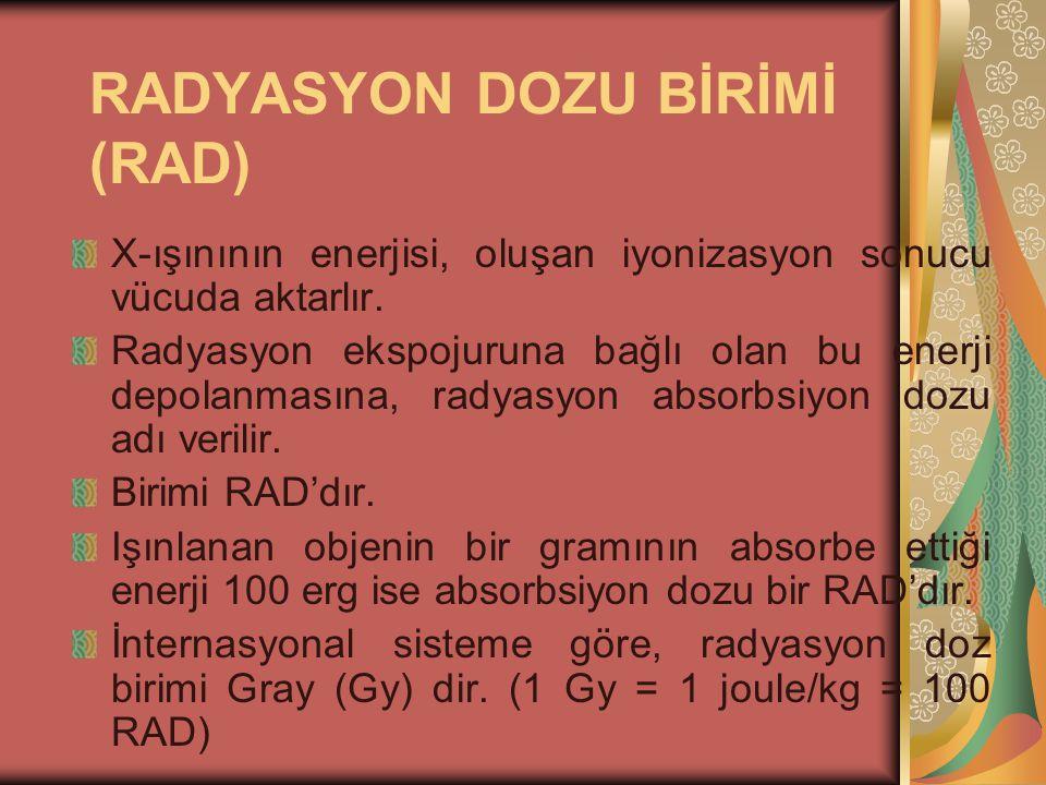 RADYASYON DOZU BİRİMİ (RAD)