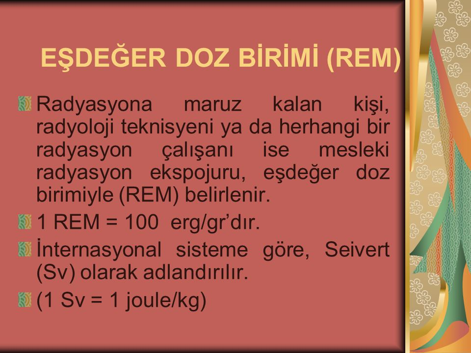 EŞDEĞER DOZ BİRİMİ (REM)
