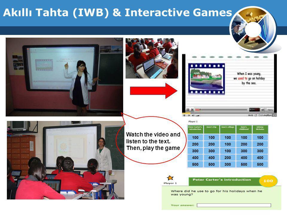 Akıllı Tahta (IWB) & Interactive Games