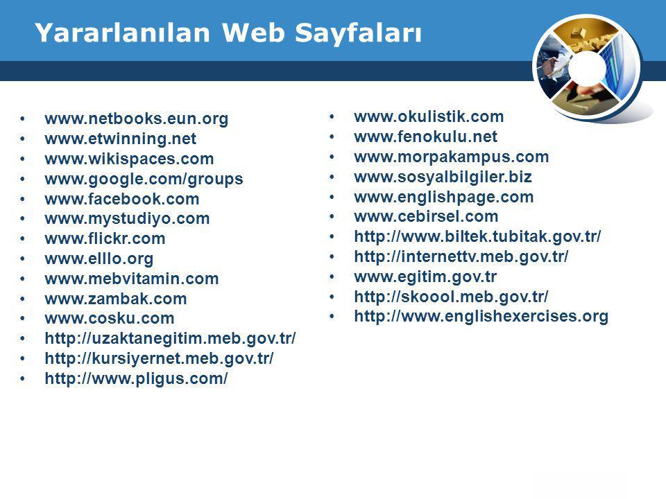 Yararlanılan Web Sayfaları
