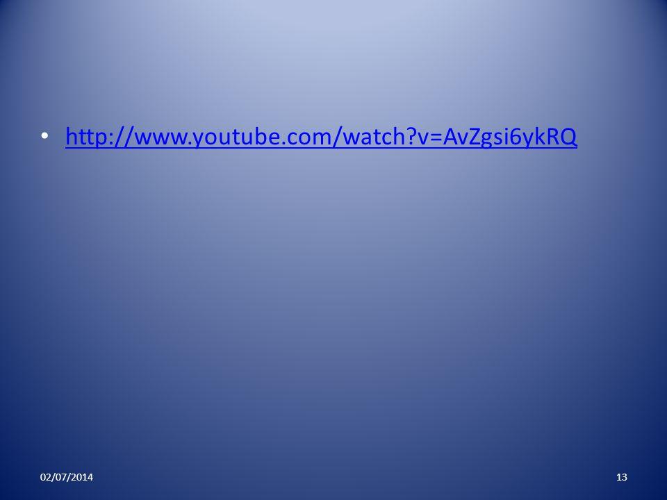 http://www.youtube.com/watch v=AvZgsi6ykRQ 03/04/2017