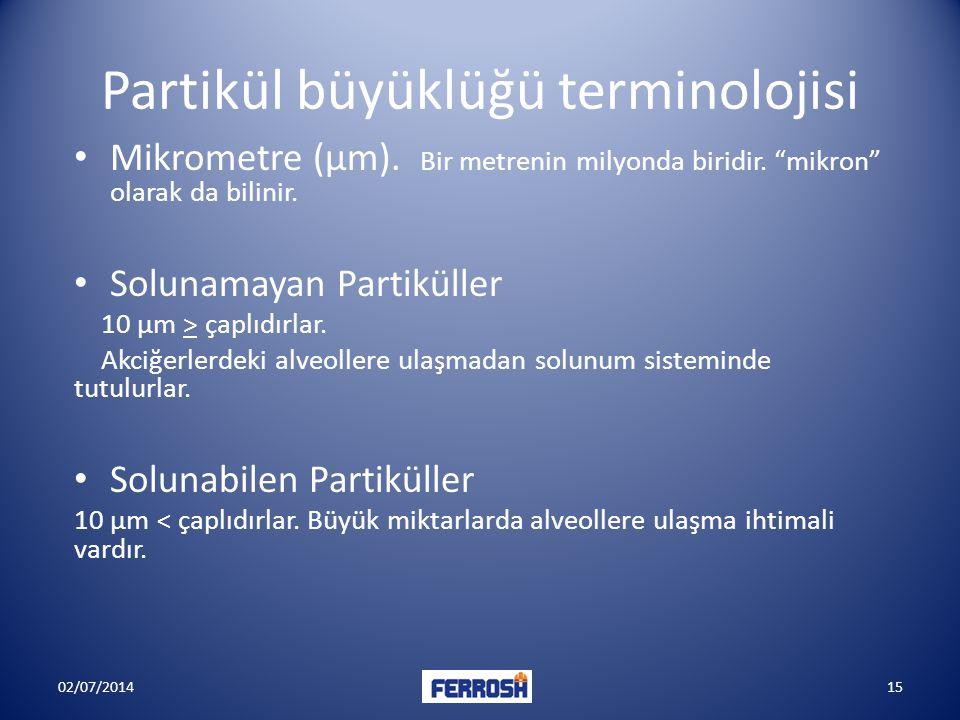 Partikül büyüklüğü terminolojisi