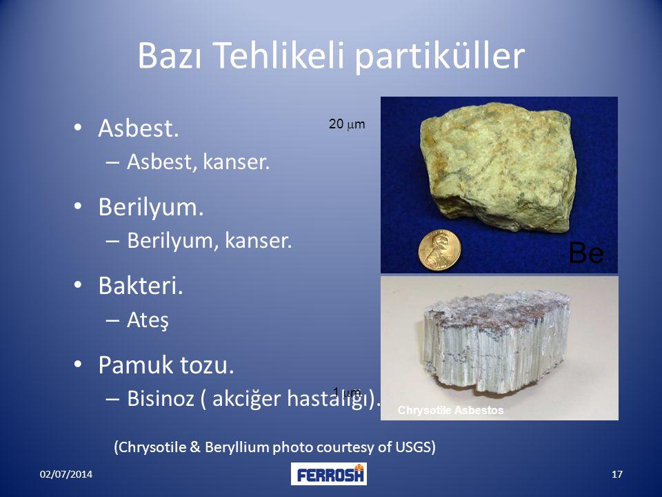 Bazı Tehlikeli partiküller