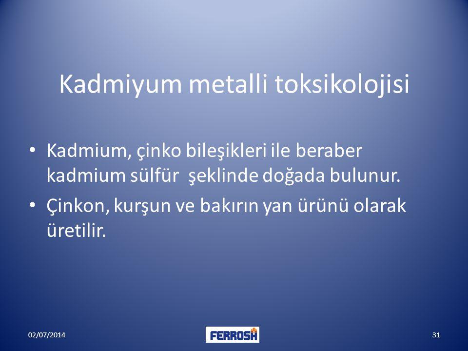 Kadmiyum metalli toksikolojisi