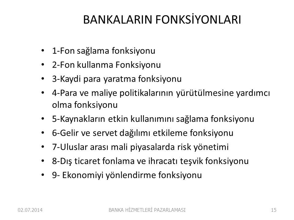 BANKALARIN FONKSİYONLARI