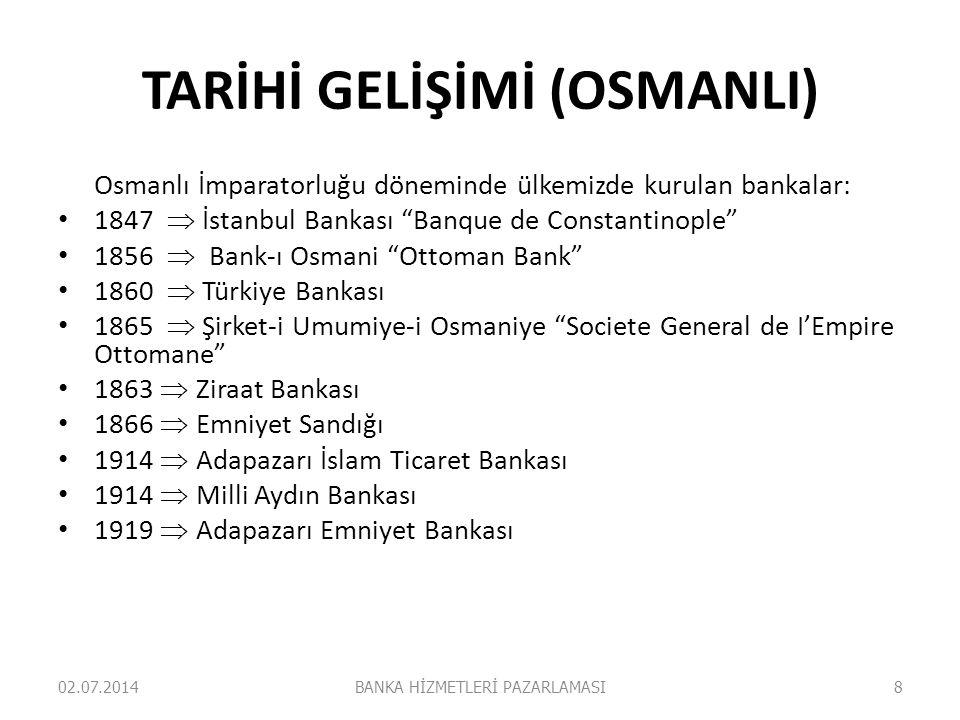 TARİHİ GELİŞİMİ (OSMANLI)