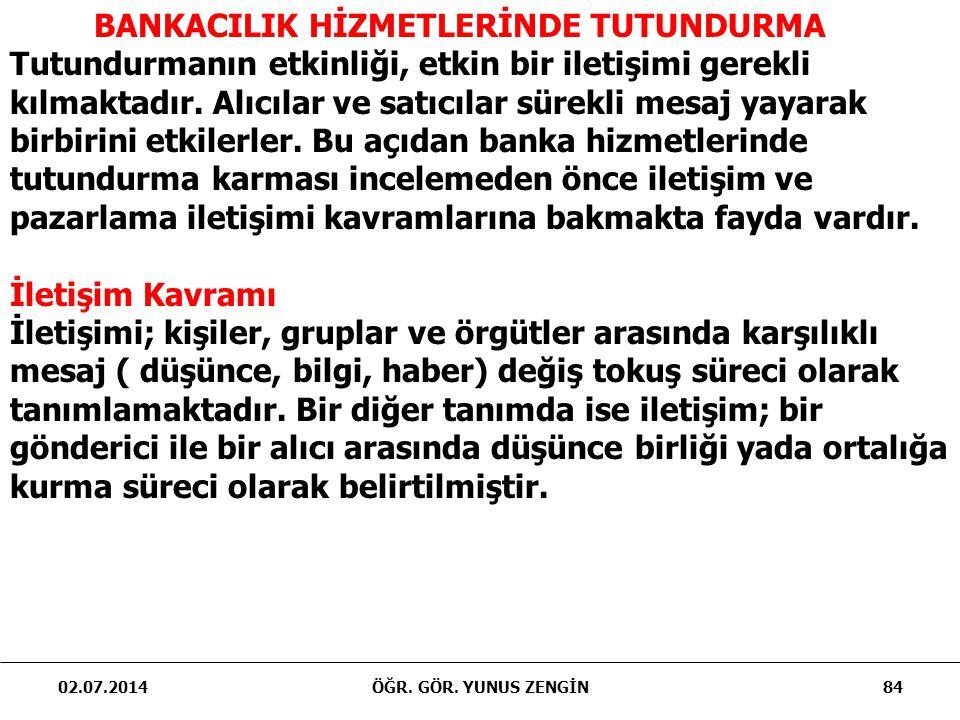 BANKACILIK HİZMETLERİNDE TUTUNDURMA