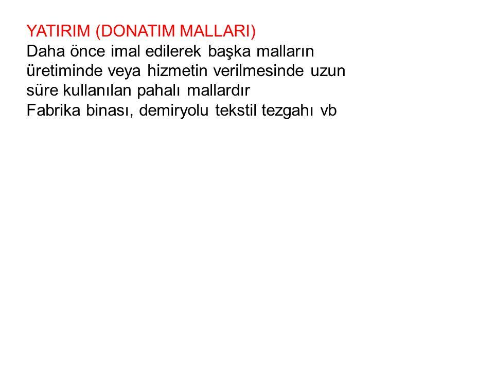 YATIRIM (DONATIM MALLARI)