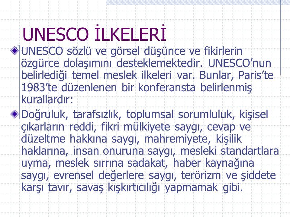 UNESCO İLKELERİ