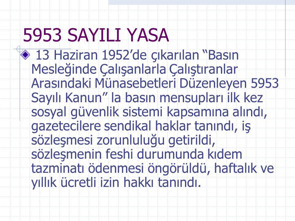 5953 SAYILI YASA