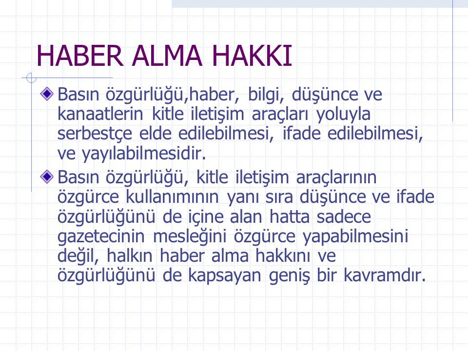 HABER ALMA HAKKI