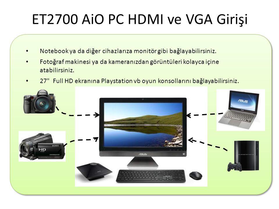 ET2700 AiO PC HDMI ve VGA Girişi