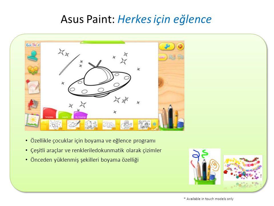 Asus Paint: Herkes için eğlence