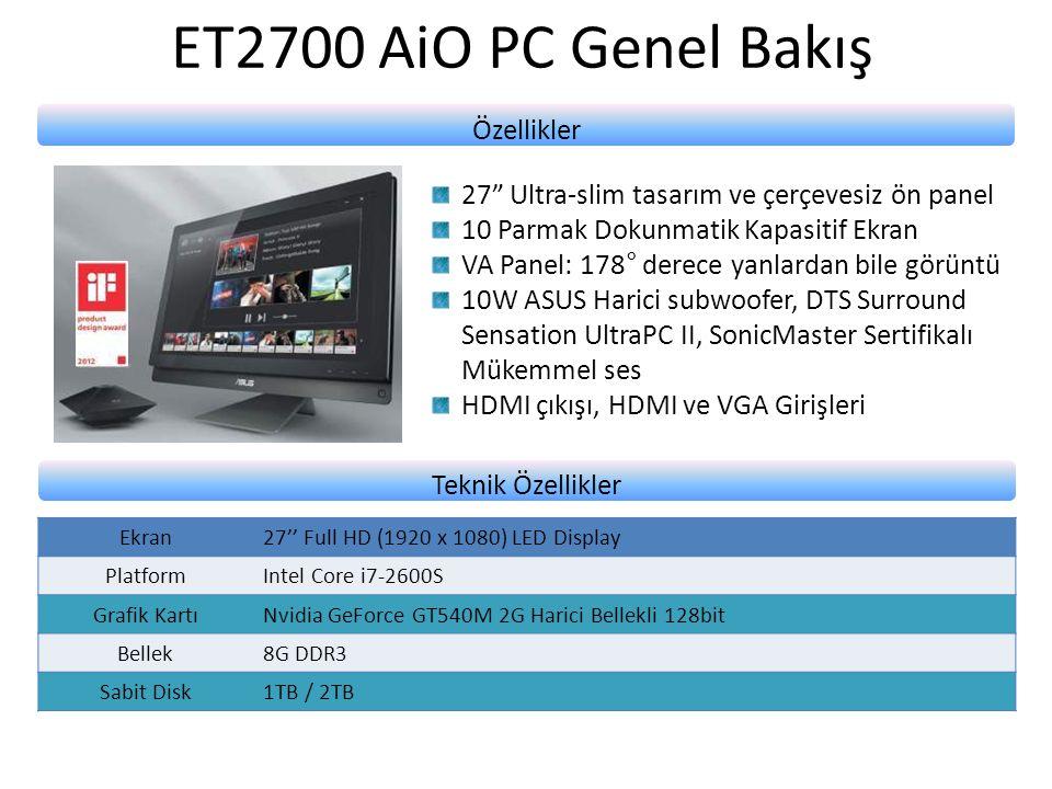 ET2700 AiO PC Genel Bakış Özellikler