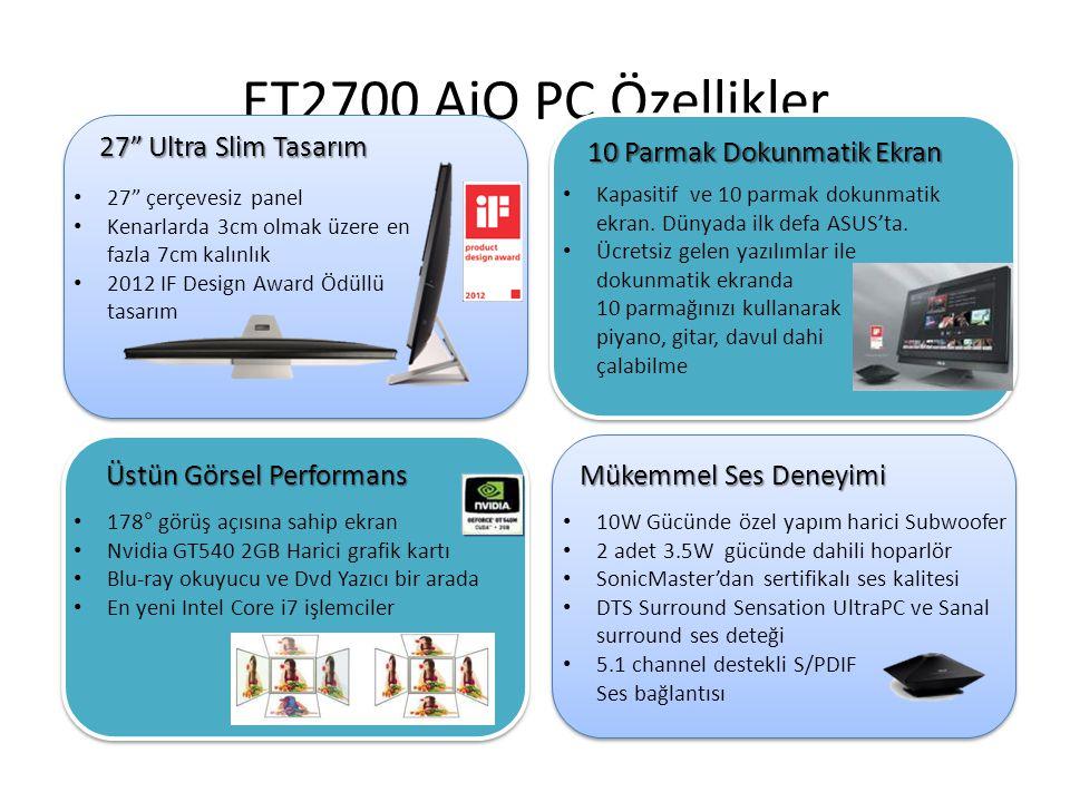 ET2700 AiO PC Özellikler 27 Ultra Slim Tasarım