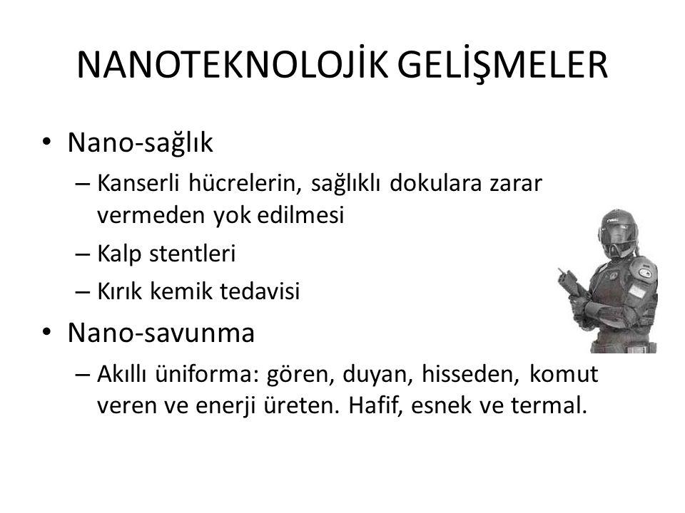 NANOTEKNOLOJİK GELİŞMELER
