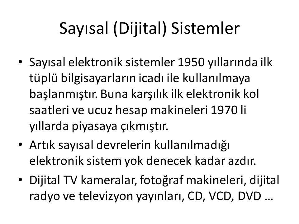 Sayısal (Dijital) Sistemler