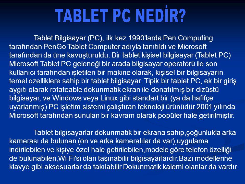 TABLET PC NEDİR